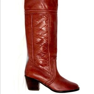 """Fossil """"Felicia"""" NWOB Leather Boots Size 8.5"""